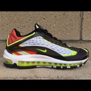Nike Airmax Deluxe Mens Running Shoes Habanero Red